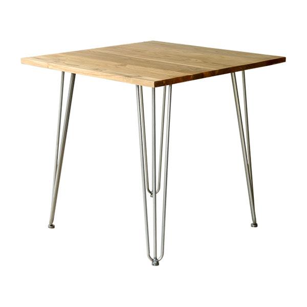 【1290】 テーブル ダイニングテーブル 単品 正方形 2人掛け テーブル ダイニング ダイニングテーブル スチール 脚(代引不可)【送料無料】