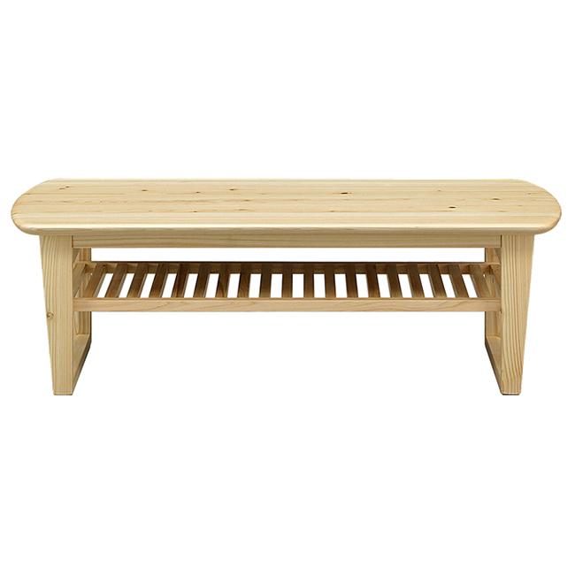 センターテーブル ローテーブル 木製 無垢 軒先渡し 幅120 無垢材使用 ひのき セラウッド塗装 北欧 おしゃれ(代引不可)【送料無料】