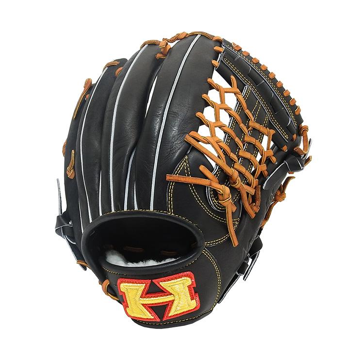 ハイゴールド 硬式 グローブ 右投 オールラウンド SKG-3515 硬式用 右投げ用 LH 野球 野球用品 グラブ袋付き Hi-Gold 黒【送料無料】