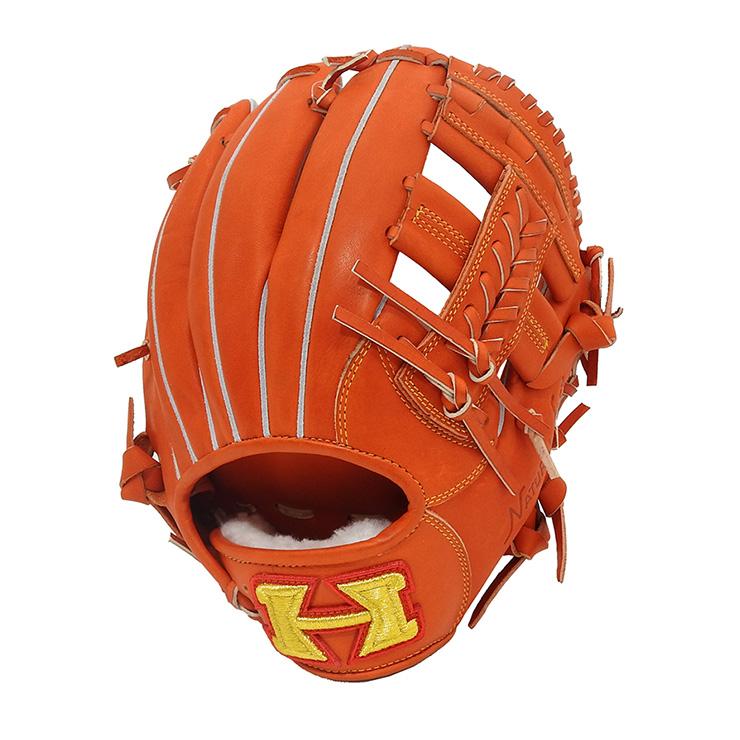 ハイゴールド 硬式 グローブ 右投 内野手用 SKG-3614 硬式用 右投げ用 LH 野球 野球用品 グラブ袋付き Hi-Gold オレンジ【送料無料】