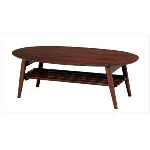 折れ脚テーブル MT-6922BR (代引き不可)【送料無料】
