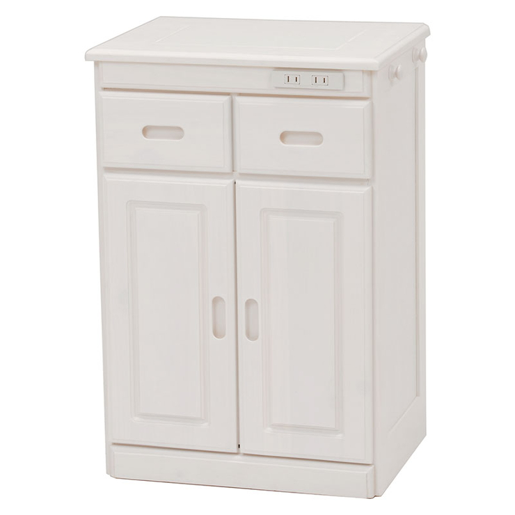 萩原 キッチンカウンター MUD-6520WS 収納 キッチン コンセント付き(代引不可)【送料無料】