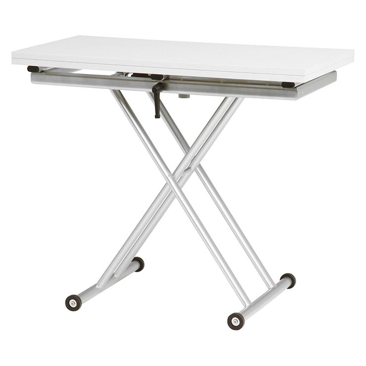【送料無料】萩原 エクステンション昇降テーブル KT-3195WH テーブル 昇降 拡張 高さ調節 萩原 エクステンション昇降テーブル KT-3195WH テーブル 昇降 拡張 高さ調節(代引不可)【送料無料】