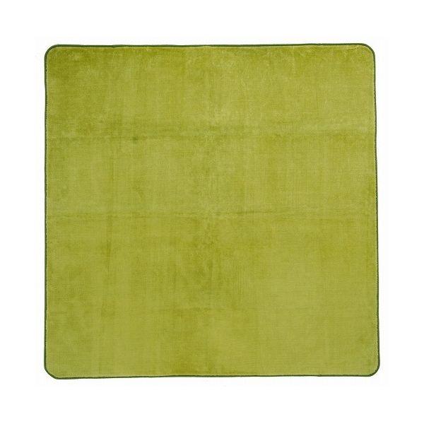洗えるミンクタッチラグ 約200×250cm GR(代引不可)【送料無料】