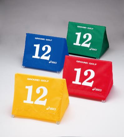 アシックス グラウンド・ゴルフ 大型スタート表示板セット(同色8台組) GGG071 レッド(23)【inte_D1806】