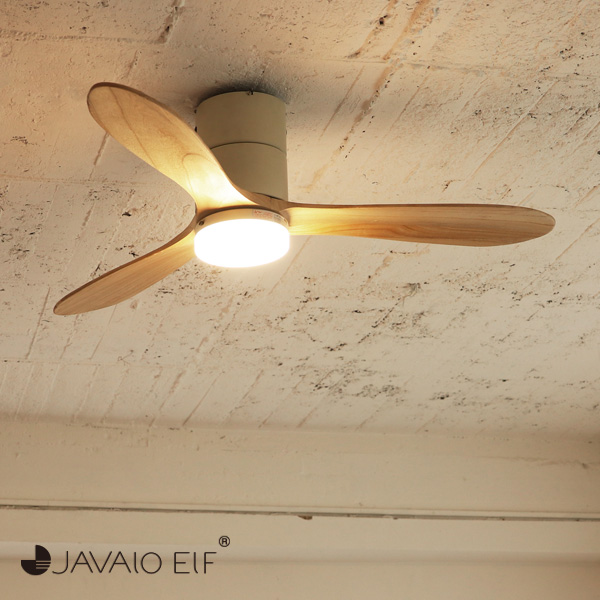 JAVALO ELF Modern Collection シーリングファン REAL wood blades ホワイト JE-CF017-WH おしゃれ モダン 天井照明 節電 エコ(代引不可)【送料無料】