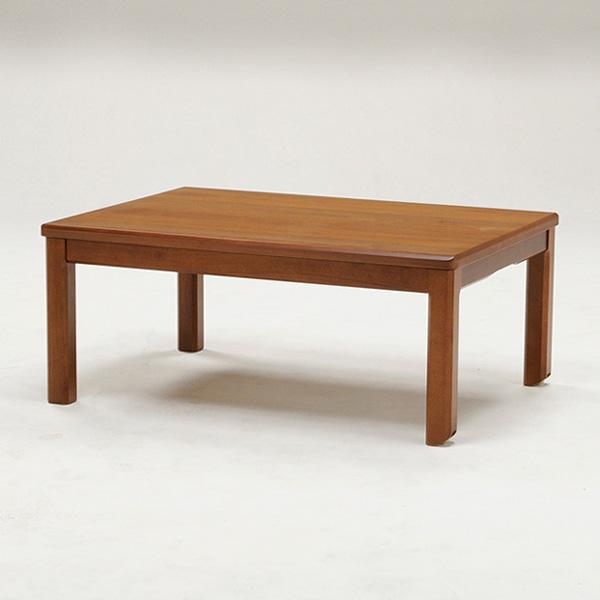 こたつ キャスター付き こたつテーブル 長方形 幅105cm 天然木 ブラウン シンプル リビングテーブル ローテーブル おしゃれ 北欧(代引不可)【送料無料】