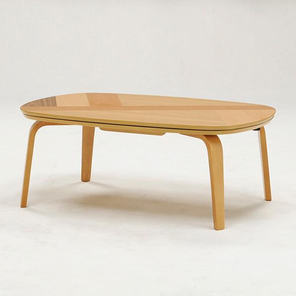 こたつ こたつテーブル 長方形 幅105cm 天然木 アルダー 天板違い貼り仕様 シンプル リビングテーブル おしゃれ 北欧(代引不可)【送料無料】【S1】