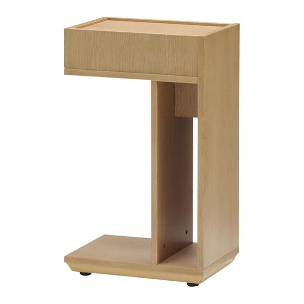 サイドテーブル 幅25cm キャスター付き オーク ウォールナット ナイトテーブル マルチテーブル シンプル おしゃれ 北欧(代引不可)【送料無料】