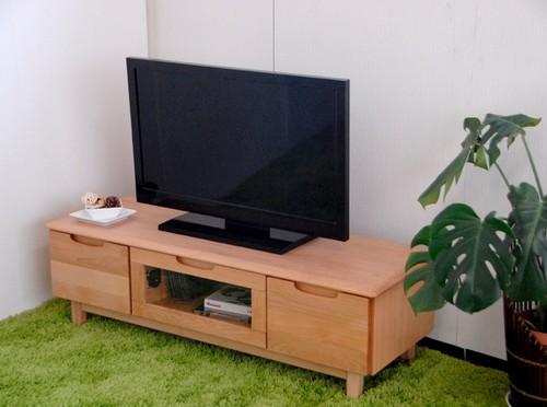 一生紀 TVボード 幅120cm(ナチュラル)【アルダー無垢材シリーズ】(代引き不可)【送料無料】