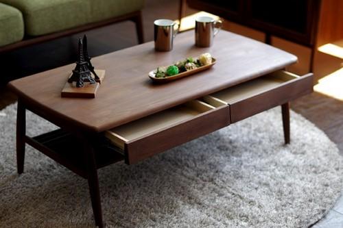 一生紀 センターテーブル 幅100cm (ミディアムブラウン)【アルダー無垢材シリーズ家具】(代引き不可)【送料無料】
