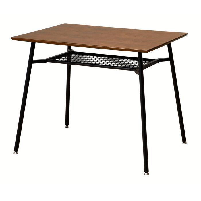 anthem アンセム ダイニングテーブル 幅90cm スチール ブラック 省スペース 机 食卓 デスク 作業台(代引不可)【送料無料】【S1】