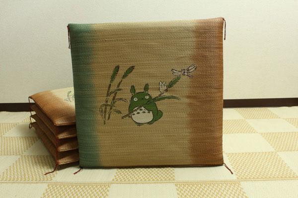 純国産 捺染返し い草座布団 『のはらトトロ 5枚組』 約55×55cm×5P(代引不可)【送料無料】
