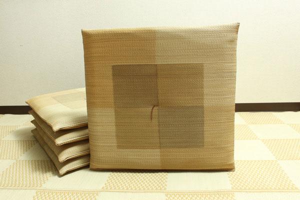 純国産 捺染千鳥 い草座布団 『蕪村(ぶそん) 5枚組』 ブラウン 約55×55cm×5P(代引不可)【送料無料】