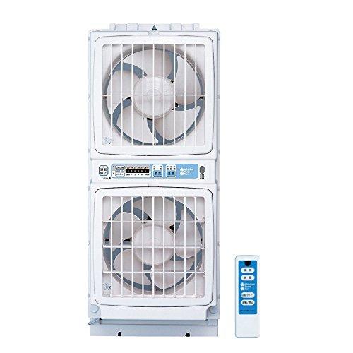 窓用 ツインファン リモコンタイプ ファン リモコン付き 同時給排型 高須産業 換気扇 暑さ対策 送風(代引不可)【送料無料】【S1】