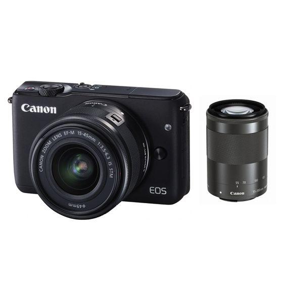 キヤノン <EOS>Canon ミラーレス一眼カメラ EOS M10・ダブルズームキット(1800万画素/ブラック)[0584C034] EOSM10BK-WZK(代引き不可)