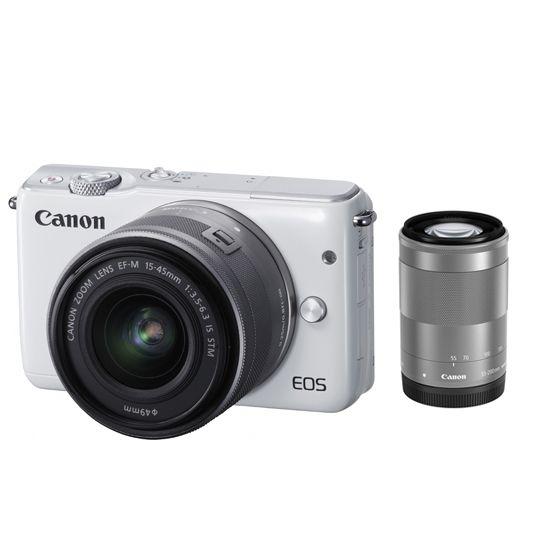 キヤノン <EOS>Canon ミラーレス一眼カメラ EOS M10・ダブルズームキット(1800万画素/ホワイト)[0922C034] EOSM10WH-WZK(代引き不可)