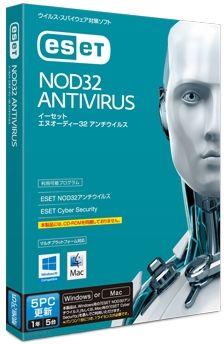 キヤノンITソリューションズ ESET NOD32アンチウイルス Windows/Mac対応 5PC更新 CITS-ND10-052(代引き不可)