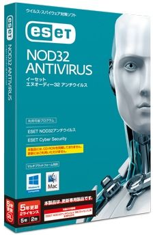 キヤノンITソリューションズ ESET NOD32アンチウイルス Windows/Mac対応 5年2ライセンス 更新 CITS-ND10-047(代引き不可)