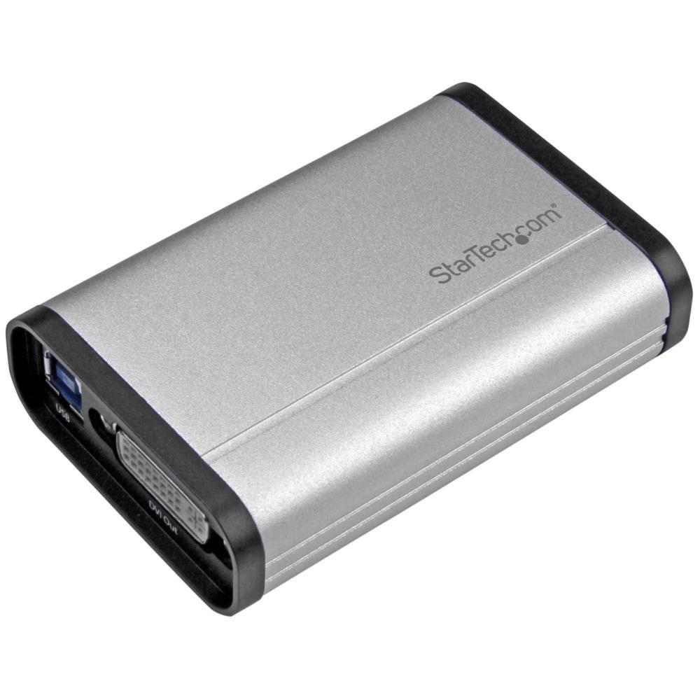 StarTech USB 3.0接続DVIビデオキャプチャーユニット 1080p/ 60fps対応 TV/テレビ 動画レコーダーデバイス アルミ筐体 DVI-I(メス) - USBタイプB(メス) USB32DVCAPRO(代引き不可)