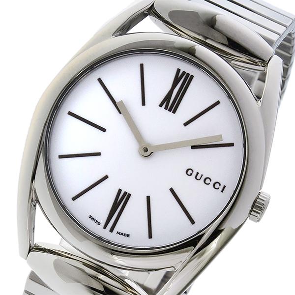 グッチ GUCCI ホースビット HORSEBIT クオーツ レディース 腕時計 YA140405 ホワイト【送料無料】
