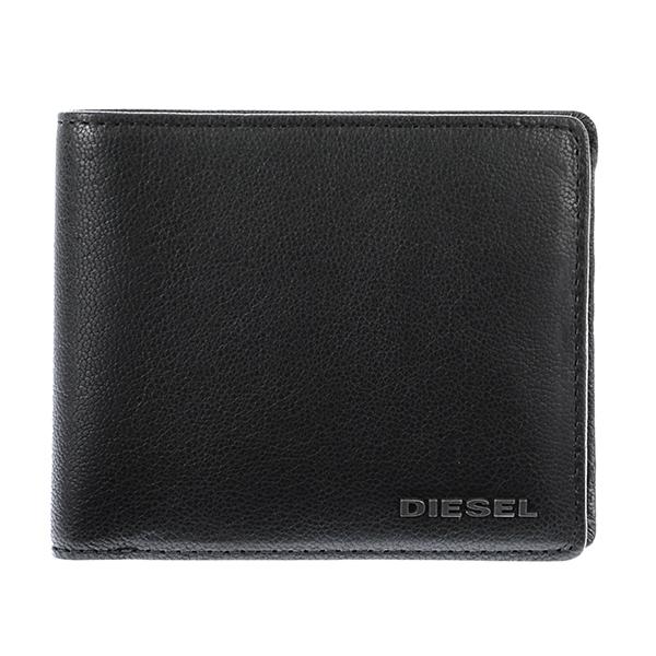 ディーゼル DIESEL メンズ 二つ折り 短財布 X03925-PR271-T8013 ブラック