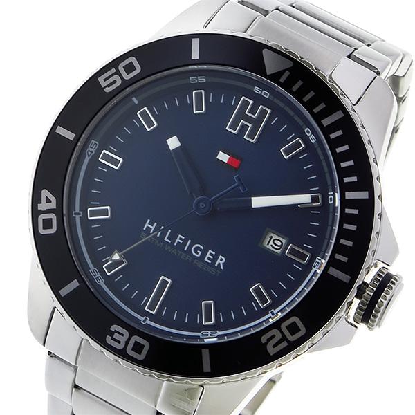 トミー ヒルフィガー TOMMY HILFIGER クオーツ メンズ 腕時計 1791267 ネイビー【送料無料】