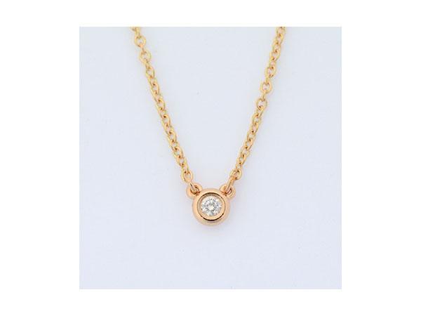 ティファニー TIFFANY&CO 18Kローズゴールド ダイヤモンド ネックレス 28334192【送料無料】