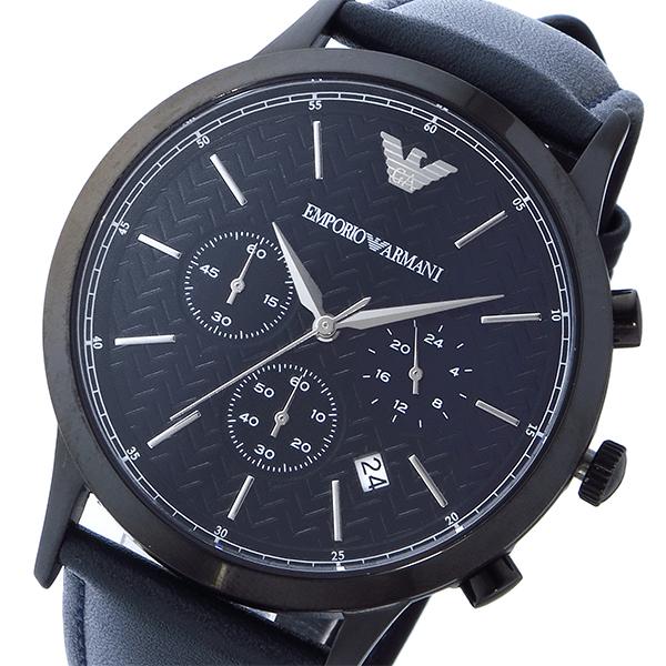 エンポリオ アルマーニ EMPORIO ARMANI クロノ クオーツ メンズ 腕時計 AR2481 ブラック【送料無料】