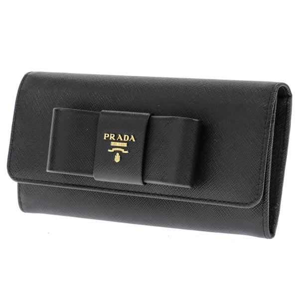 プラダ PRADA 長財布 レディース 1MH132S_FIOCCO-NER【送料無料】