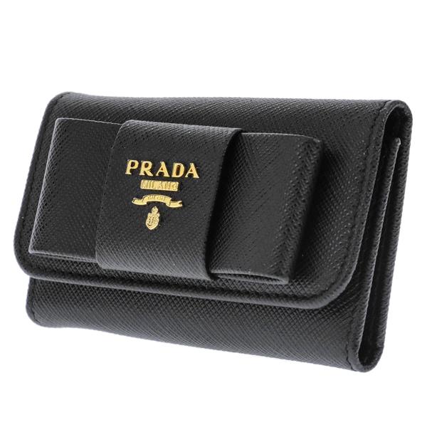 プラダ PRADA キーケース レディース 1PG222S_FIOCCO-NER【送料無料】