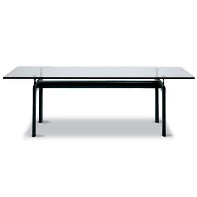 コルビジェ ダイニングテーブル LC6 ターブチューブダビオン 225cm ル・コルビジェ ダイニングテーブル ガラステーブル 応接(代引不可)【送料無料】