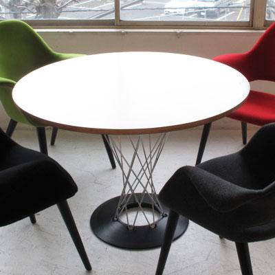 イサム・ノグチ サイクロンテーブル105 ダイニングテーブル プライウッド 木製(代引不可)【送料無料】