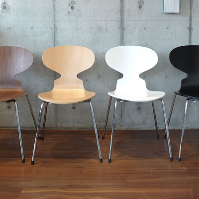 アルネ・ヤコブセン ダイニングチェア アントチェア 北欧家具 木製 座面4色 プライウッド 椅子 チェア(代引不可)(代引不可)【送料無料】
