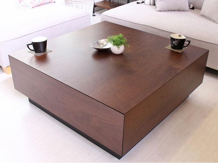 センターテーブル 正方形 引き出し carote カローテ 幅80 完成品 岩附 iwatsuki ロー テーブル 引き出し 引出し 収納 木製 北欧(代引不可)【送料無料】