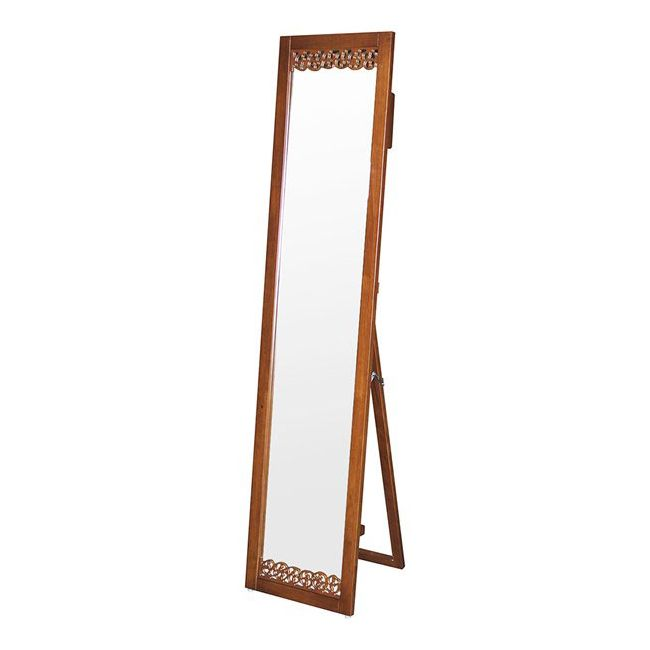ミラー スタンドミラー シルエットミラー OW-510 鏡 姿見 飛散防止加工 木製フレーム 家具 鏡 ミラー 塩川 インテリア(代引不可)【送料無料】