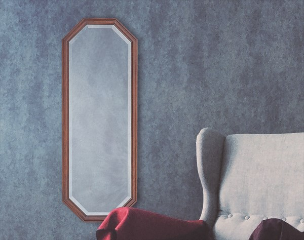 ウォールミラー H3595 家具 鏡 ミラー 塩川 インテリア(代引不可)【送料無料】