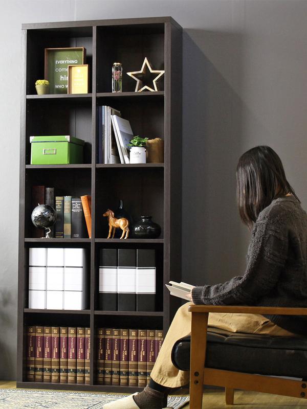 シェルフ 本棚 幅80 5段 オープンラック 木製 収納家具 書庫 フリーラック 北欧 おしゃれ 木目 即納(代引不可)【送料無料】