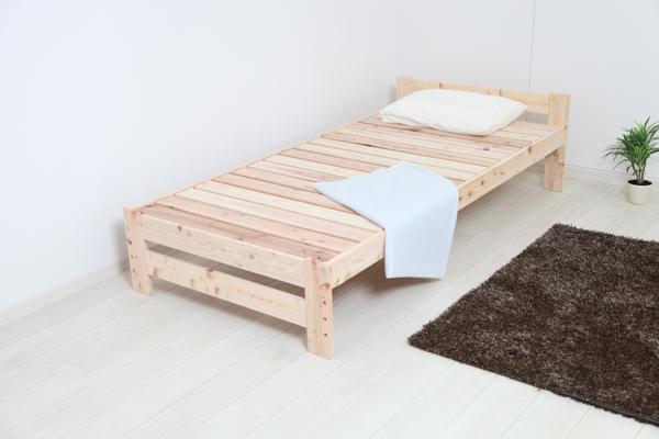 ベッド シングル 天然木 高さが調節できる すのこベッドシリーズ 国産ひのき 天然木すのこベッド(代引不可)【送料無料】【S1】