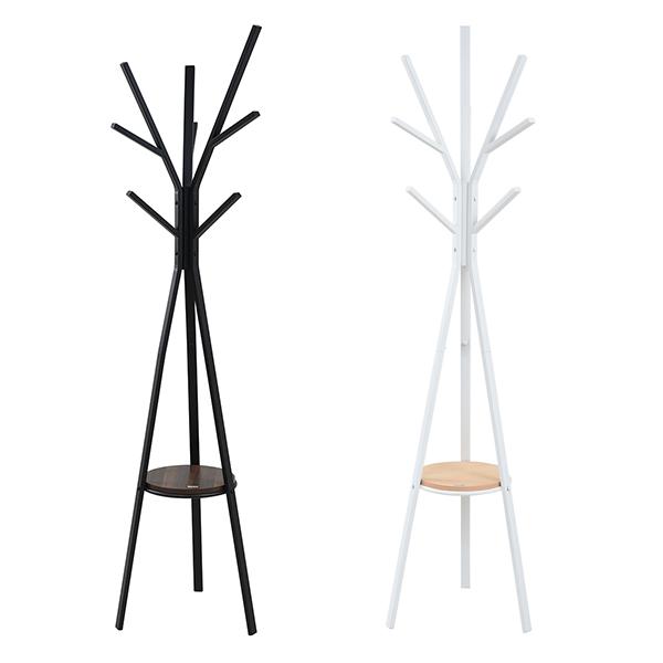 Rita ポールハンガー ハンガー ラック 北欧 デザイン モダン 木製 スチール ミッドセンチュリー 家具 バッグ 掛け ブラック(代引不可)【送料無料】