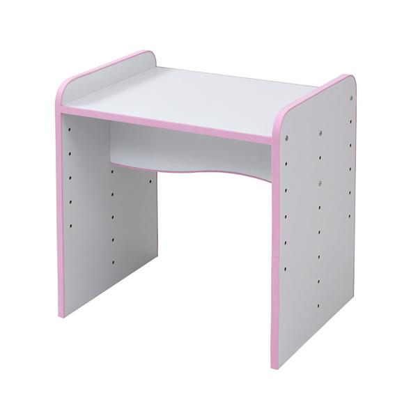 ソフトエッジで安全なキッズ つくえ 高さ調整 可能な デスク 幅60 奥行45 高さ 6段階 ピンク(代引不可)【送料無料】
