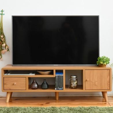 テレビ台 幅110 テレビボード 薄型 40型 奥行30 高さ35.5 ローボード ロータイプ 北欧 収納 36型 ワンルーム ナチュラル(代引不可)【送料無料】