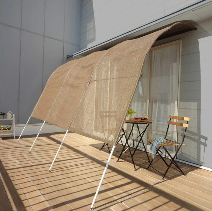 日よけ アーチ型サンシェード 幅3m サンシェード シェード アーチ型 たてす 洋風 洋風たてす 雨よけ 目隠し 窓 ガーデン(代引不可)【送料無料】