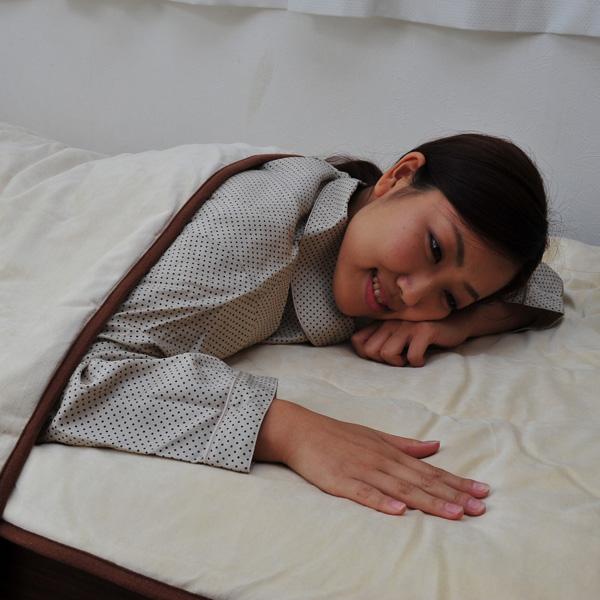 ふわふわキャメル敷きパッド シングル 敷パッド ベッドパッド パッド(代引不可)【送料無料】