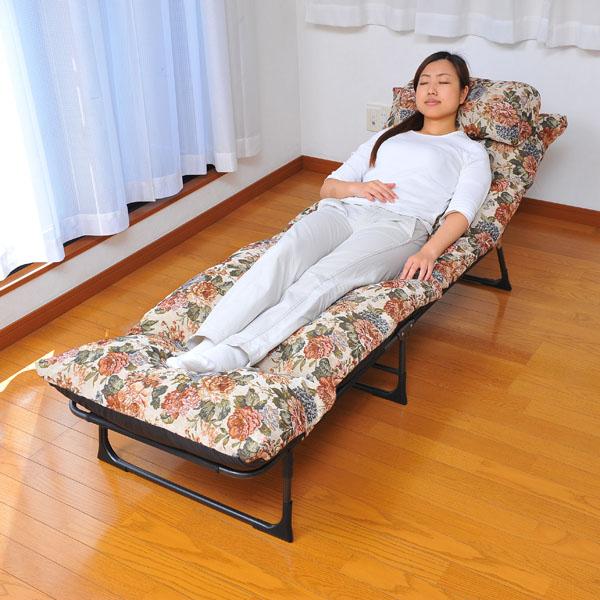 折りたたみ収納できる簡易ベッド 三つ折りリクライニングベッド ベッド ベッド かんたん 収納(代引不可) かんたん【送料無料】【S1】, カワカミムラ:521edc9e --- tarakibu.co.ke