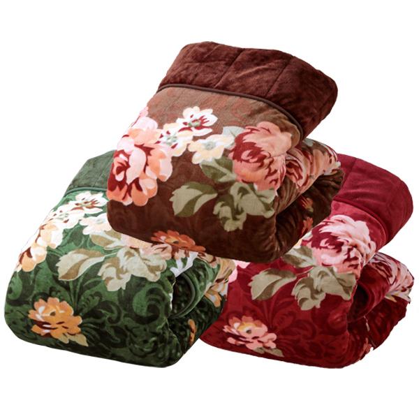 3枚合わせ毛布 3色組 5層構造 ふっくら あったか ボリューム満点(代引不可)【送料無料】