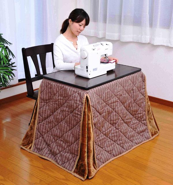 デスクこたつ掛布団セット 75×50 テーブル セット こたつ コタツ(代引不可)【送料無料】