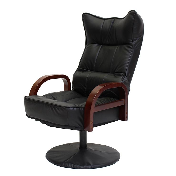 リクライニング回転座椅子 ハイタイプ 6段階調整 リクライニングチェア 回転チェア 座椅子 高座椅子 リラックスチェア 椅子(代引不可)【送料無料】