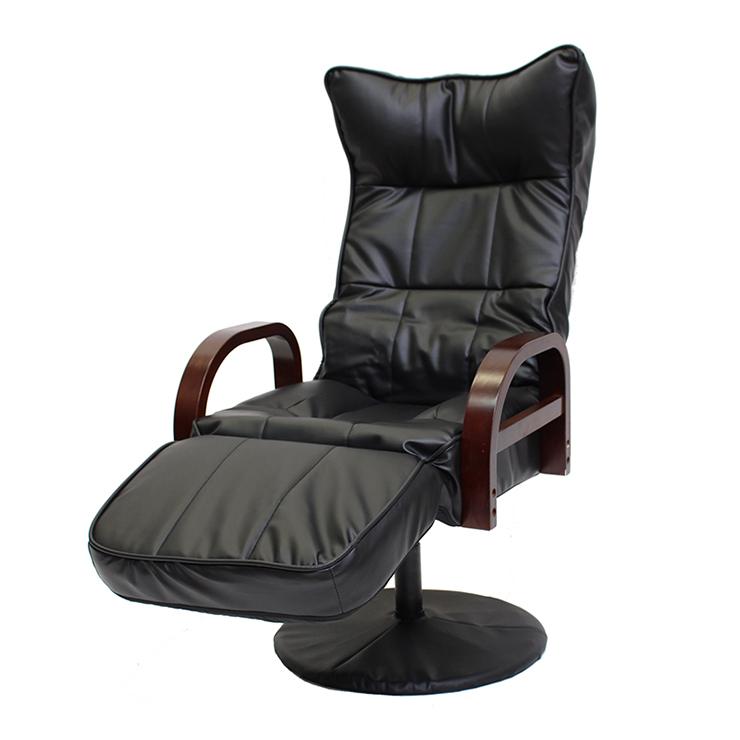 リクライニング回転座椅子 フット付ハイタイプ 6段階調整 フットレスト14段階 フットレスト付き リクライニングチェア 高座椅子(代引不可)【送料無料】