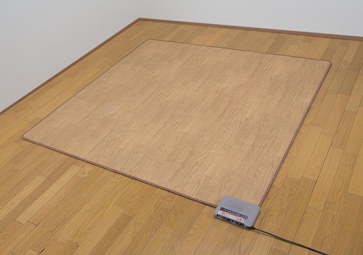 木目フローリングタイプ カーペット3畳用 フローリング なじむ 一体化(代引不可)【送料無料】